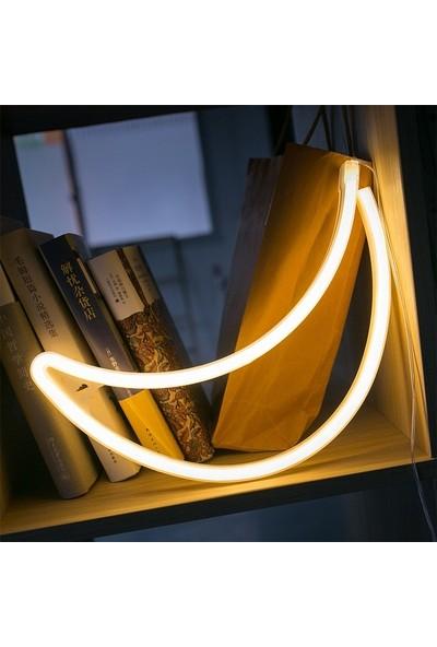 EvdenAvm Ay Tasarımlı Led USB Girişli Gece Lambası