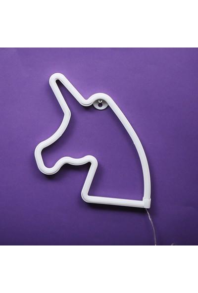 Evden Unicorn Led'li USB Gece Lambası