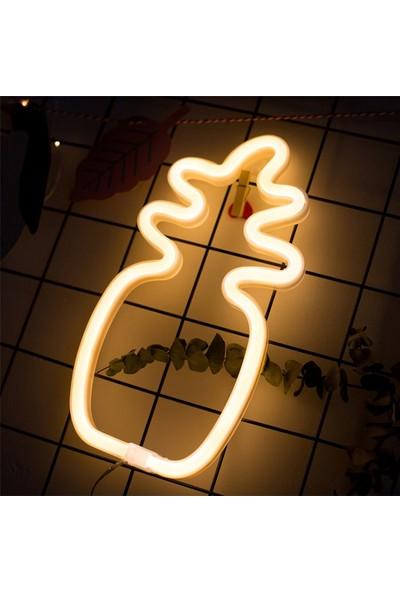 Evden Ananas Tasarımlı Led'li USB Gece Lambası