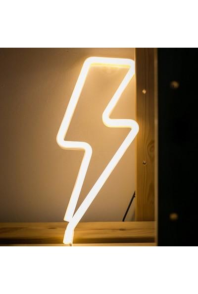Evden Şimşek Tasarımlı Led'li USB Gece Lambası