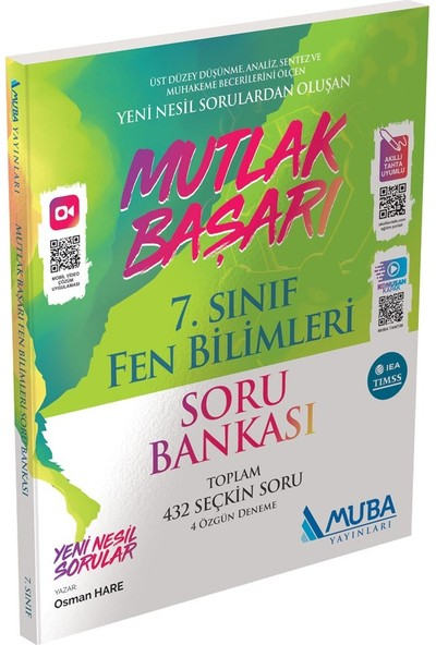 Muba Yayınları Mutlak Başarı 7. Sınıf Fen Bilimleri Soru Bankası