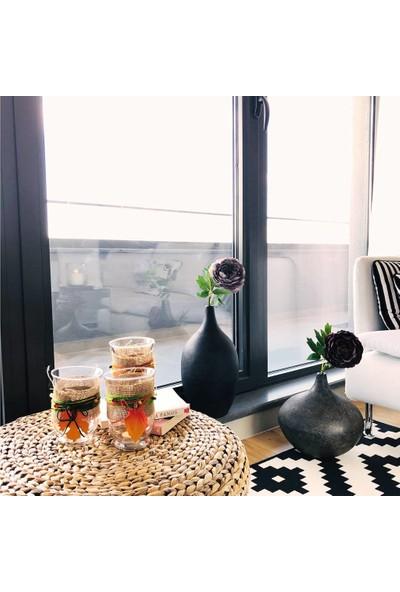 Alesta Home Turuncu Yaprak Detaylı Cam Tealight Mumluk