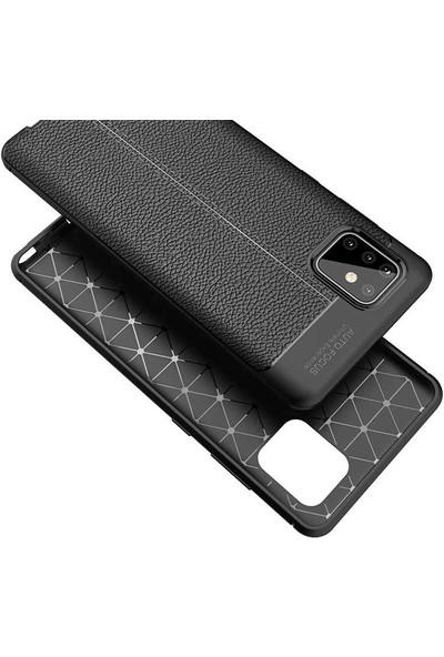 Case 4U Samsung Galaxy Note 10 Lite Darbe Emici Silikon Kılıf Niss + Nano Cam Ekran Koruyucu Siyah