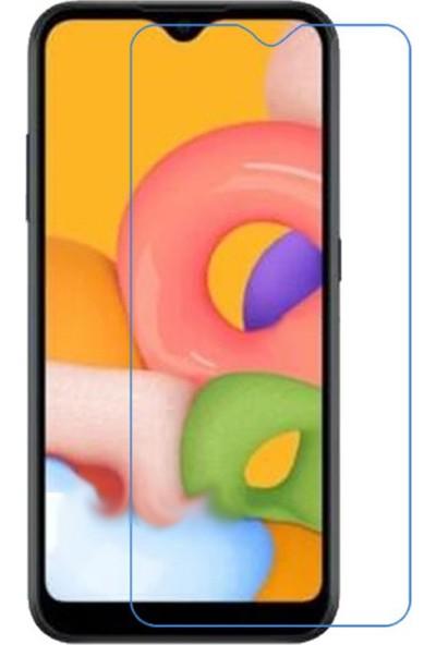 Case 4U Samsung Galaxy A01 Cam Ekran Koruyucu Blue Nano Şeffaf