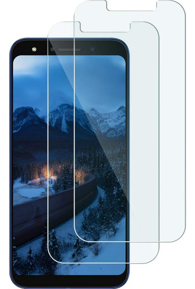 Case 4U Huawei P Smart Pro 2019 Cam Ekran Koruyucu Blue Nano Şeffaf