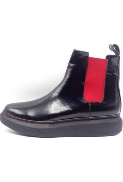 King Shoes Küçük Numara - Büyük Numara Alexander Mcqueen Siyah Bot EKS5100-3SYHKIR