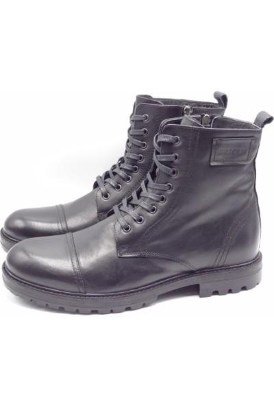 King Shoes Büyük Numara Siyah Erkek Postal Bot