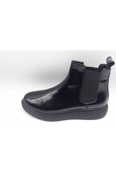 King Shoes Küçük Numara - Büyük Numara Alexander Mcqueen Siyah Bot