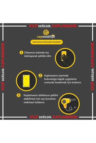 3M Samsung Galaxy M40 Turkuaz Mermer Telefon Kaplama