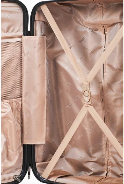 Baggaj Lüx Abs Valiz Kabin Boy Cam Göbeği