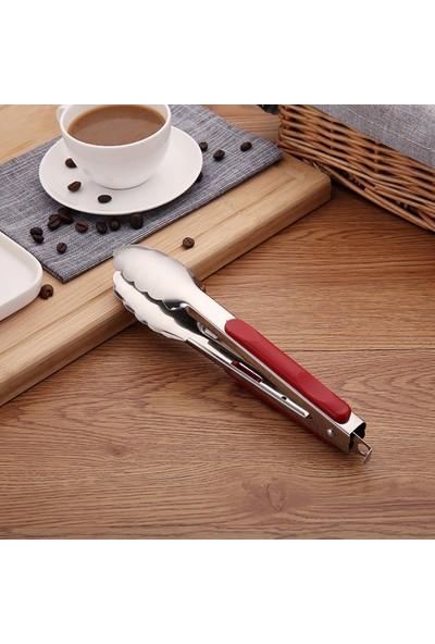 Arin Kilit Mekanizmalı Çelik Makarna Salata Servis Maşası (Küçük)