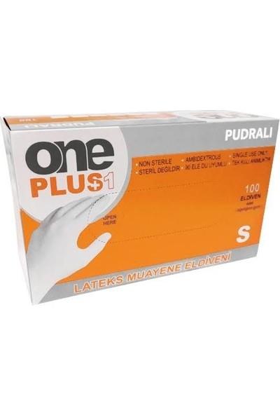 One Plus Pudralı Lateks Eldiven 100'lü - S