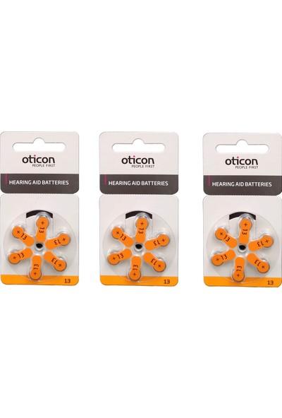 Oticon 13 Numara İşitme Cihazı Pili 3 Paket 18 Adet