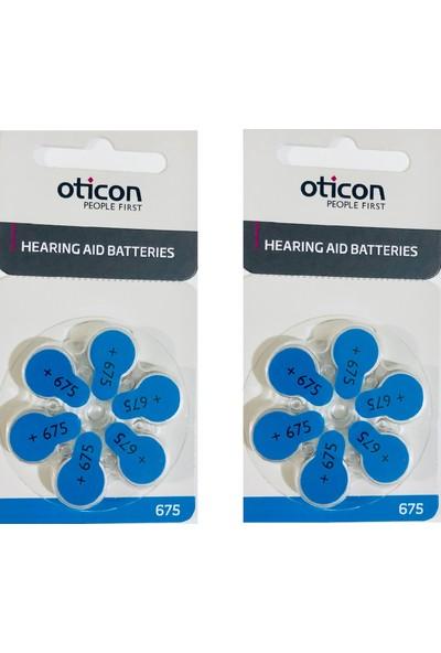 Oticon 675 Numara İşitme Cihazı Pili 2 Paket 12 Adet