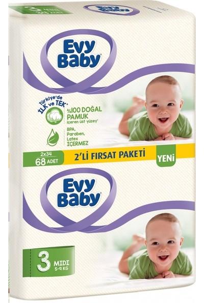 Evy Baby Bebek Bezi 3 Numara 5 - 9 kg 68 Adet