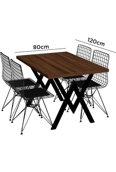 Evdemo Parla 4 Sandalyeli Masa Takımı Beyaz