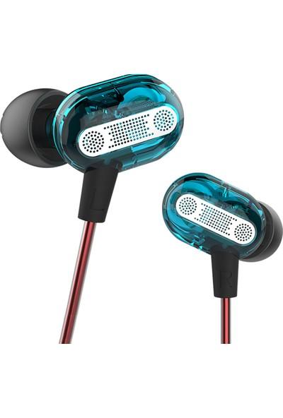 Kz Zse Dual Driver Kulak Içi Kulaklık - Mavi