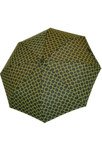 Biggbrella Puanlı Siyah Mini Şemsiye