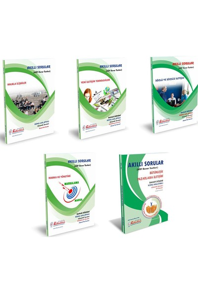 İlkumut Yayıncılık AÖF Halkla İlişkiler Ve Tanıtım 1. Sınıf 2. Yarıyıl Bahar Dönemi Konu Anlatımlı Soru Bankası Set