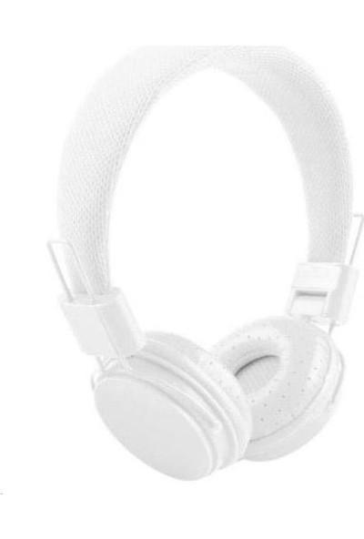 Mastek Color Kulaklık Mikrofonlu Kulaklık - Beyaz