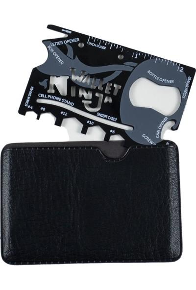 Als Kredi Kartı Büyüklüğünde Çok Amaçlı Kart, Alet Çantası, Alet Seti, Ninja Wallet
