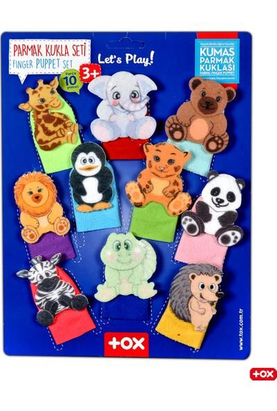 Tox Vahşi Hayvanlar 10 Parça Parmak Kukla