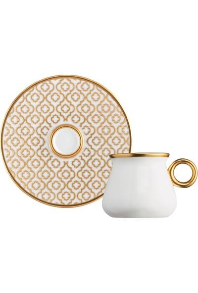 Glazze Olympos Porselen Kahve Seti 12 Parça