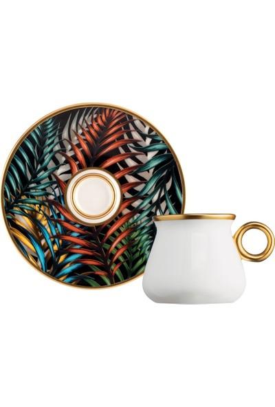 Glazze Fiona Porselen Kahve Seti 12 Parça