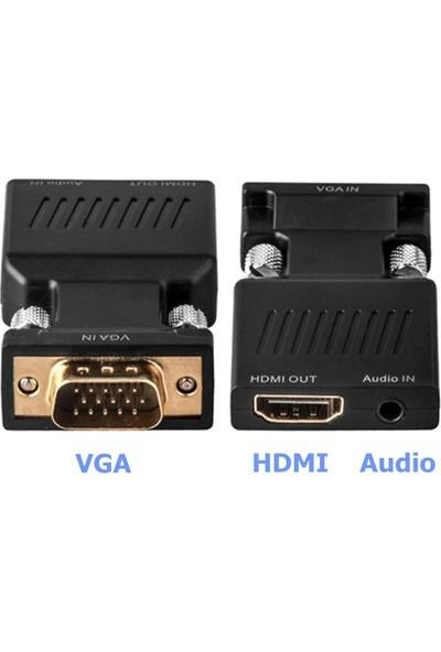 Alfais 4501 VGA To HDMI Çevirici Dönüştürücü