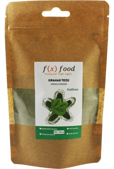 Fx Food Kurutulmuş Ispanak Tozu 100 gr