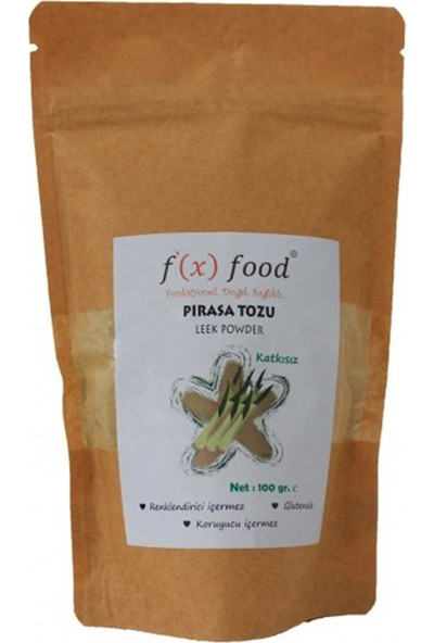 Fx Food Kurutulmuş Pırasa Tozu 100 gr