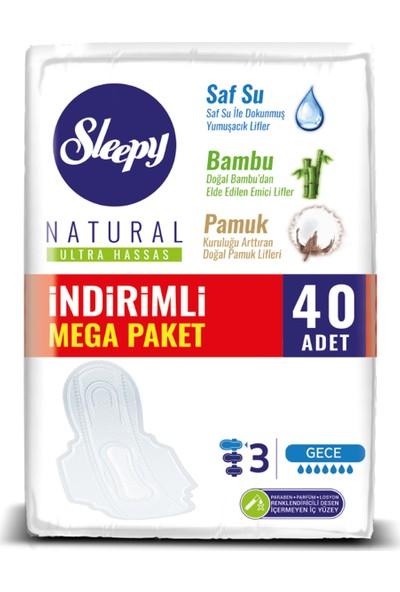 Sleepy Natural Ultra Hassas Gece 40 Ped Mega Paket