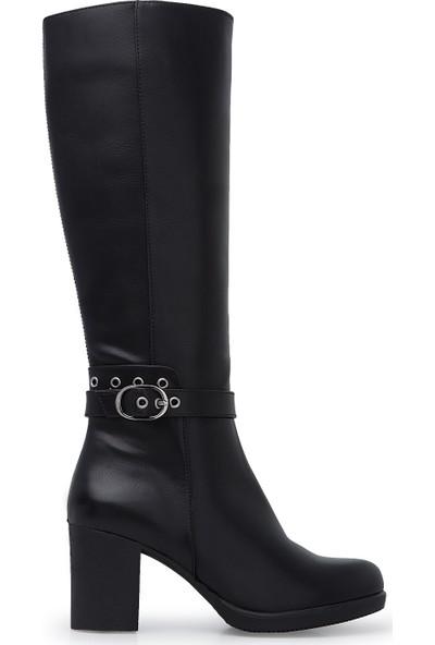 Polaris Fermuarlı Topuklu Çizme Kadın Çizme 92314411Z
