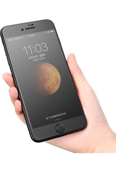 Microcase OnePlus 7 Tam Kaplayan Çerçeveli Tempered Ekran Koruyucu Mat Siyah