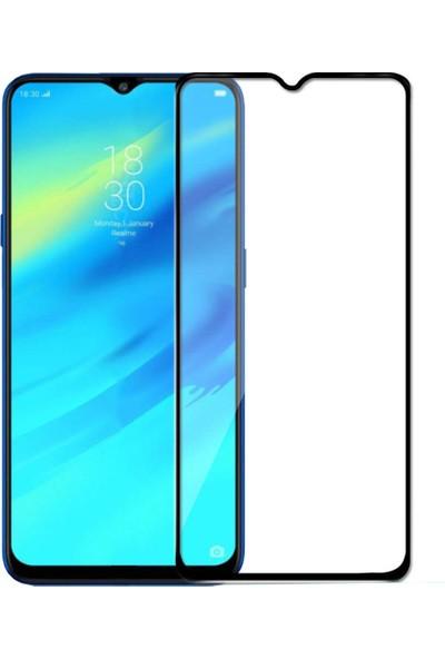 Microcase Realme X2 Pro Tam Kaplayan Çerçeveli Tempered Ekran Koruyucu Siyah