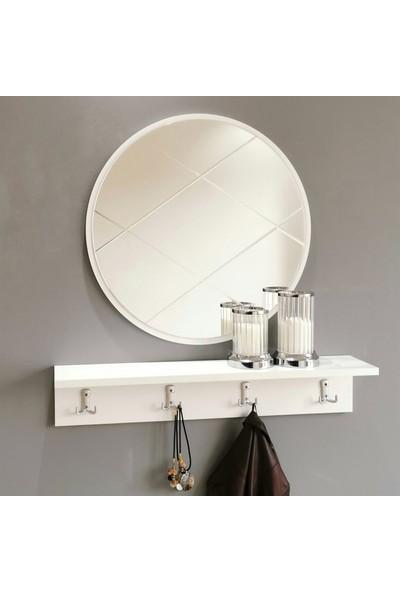 Neostill Aynalı Vestiyer Portmanto Askılık Dresuar Baklava