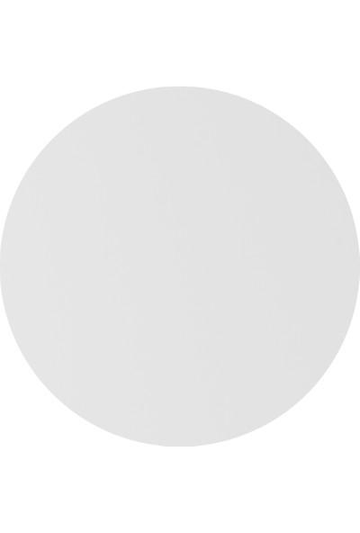 Onelineavm Parlak Beyaz Yuvarlak Ahşap Zigon Sehpa