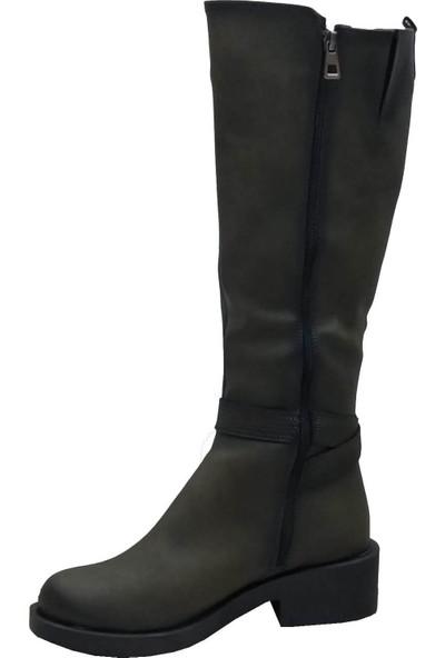 Cudo 2401 Fermuarlı Kadın Çizme