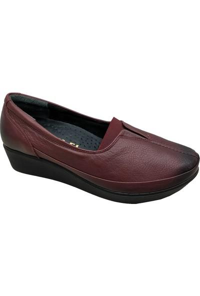 Üçel 012 Deri Makosen Kadın Ayakkabı