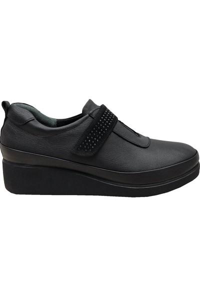 Üçel 026 Deri Cırtlı Kadın Ayakkabı