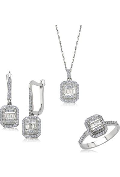 Başar Gümüş Baget Swaroski Gümüş Set