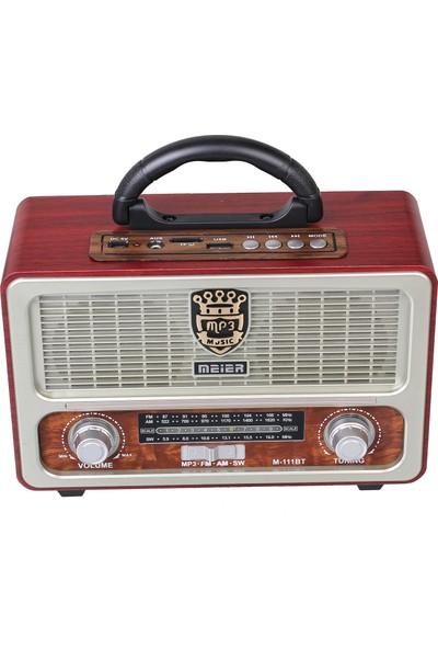 Meier M-111 Bt Bluetooth Radyo