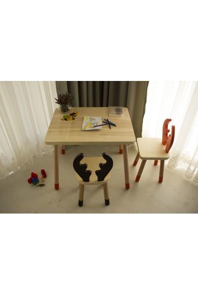 Wooda Montessori Bebek Çocuk Masa Sandalye Takımı