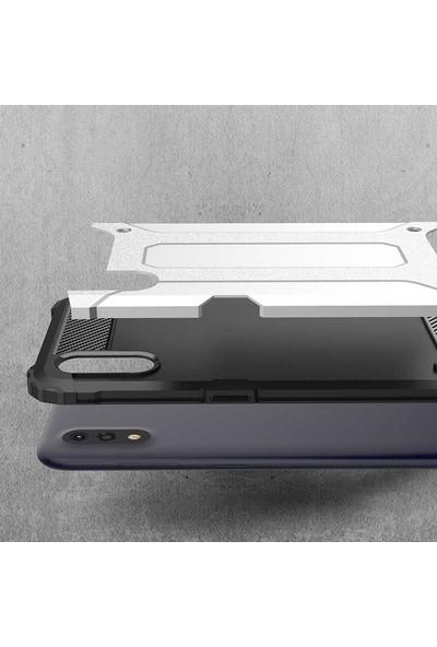 Teleplus Samsung Galaxy A01 Armor Tank Kapak Siyah