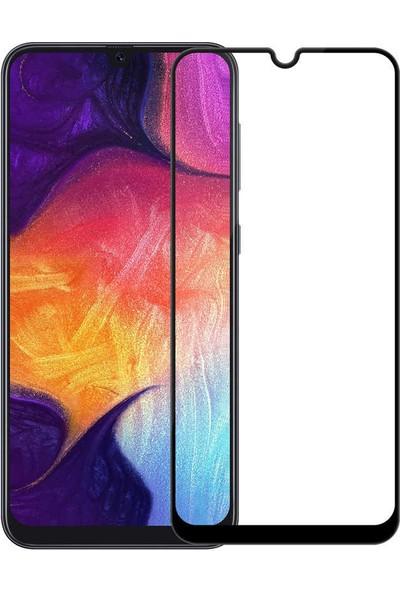 Fujimax Samsung Galaxy A01 Dört Köşeli Lazer Silikon + Kenarları Tam Kapatan Temperli Ekran Koruycu - Siyah