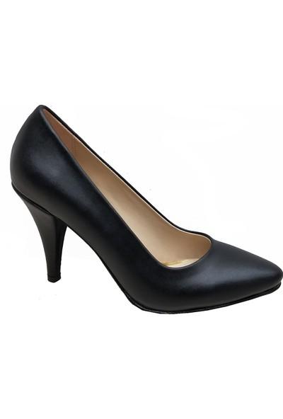 Gizem 366 Deri İnce Topuklu Kadın Ayakkabı