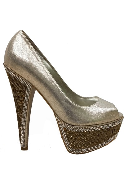 Smilee 4295 Yüksek Platform Topuklu Kadın Ayakkabı