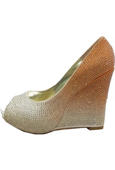 Smilee 4559 Platform Topuklu Abiye Kadın Ayakkabı