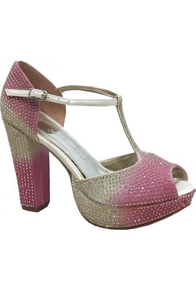 Smilee 4629 Platform Topuklu Abiye Kadın Ayakkabı