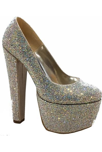 Smilee 5114 60mm Platform Topuklu Kadın Ayakkabı
